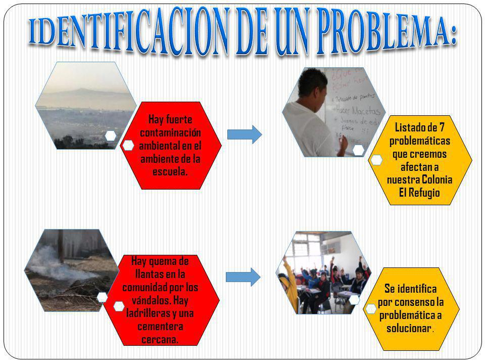 IDENTIFICACION DE UN PROBLEMA: