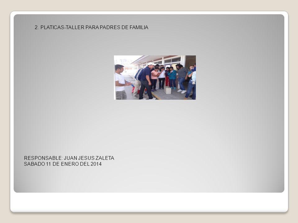 2. PLATICAS-TALLER PARA PADRES DE FAMILIA