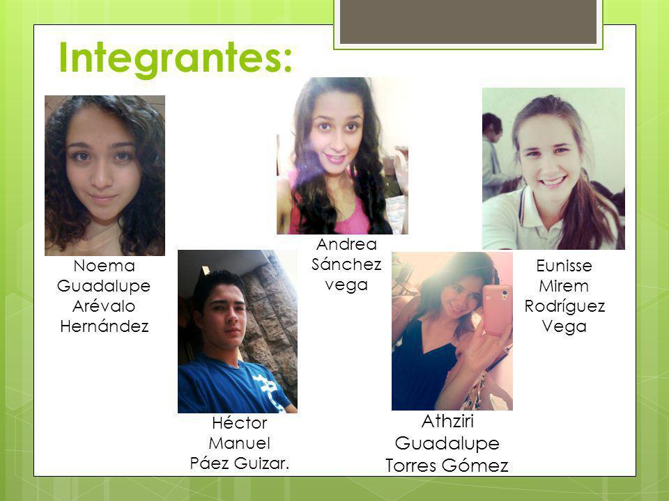 Integrantes: Athziri Guadalupe Torres Gómez Andrea Sánchez vega