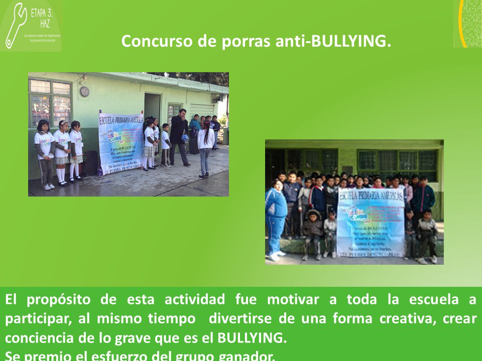 Concurso de porras anti-BULLYING.