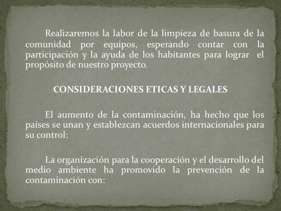 CONSIDERACIONES ETICAS Y LEGALES