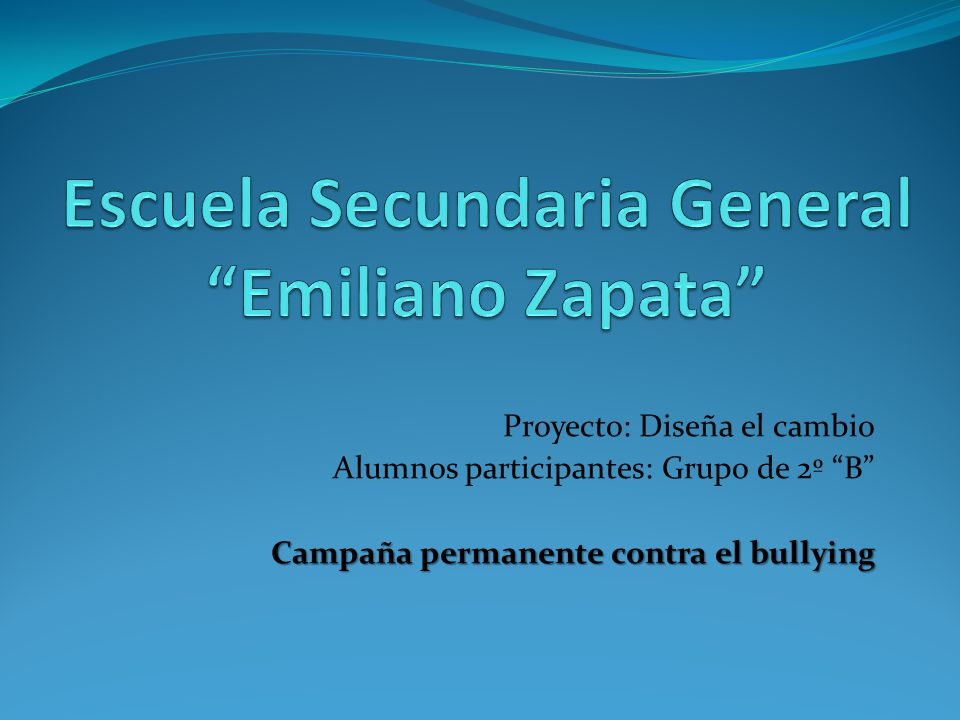 Escuela Secundaria General Emiliano Zapata