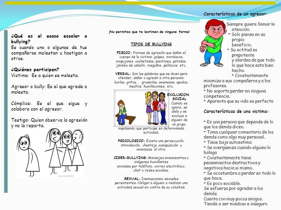 ¿Qué es el acoso escolar o bullying