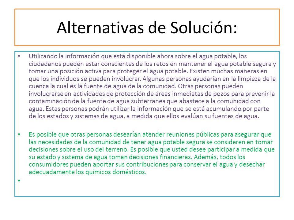 Alternativas de Solución:
