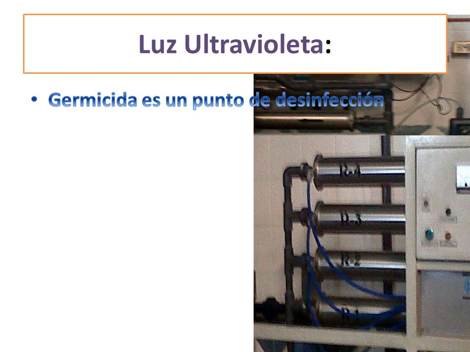 Luz Ultravioleta: Germicida es un punto de desinfección
