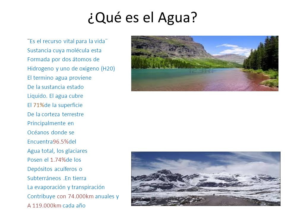 ¿Qué es el Agua