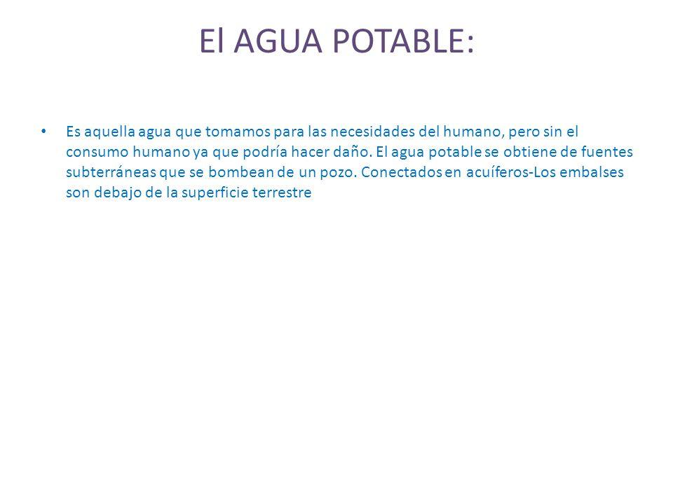 El AGUA POTABLE: