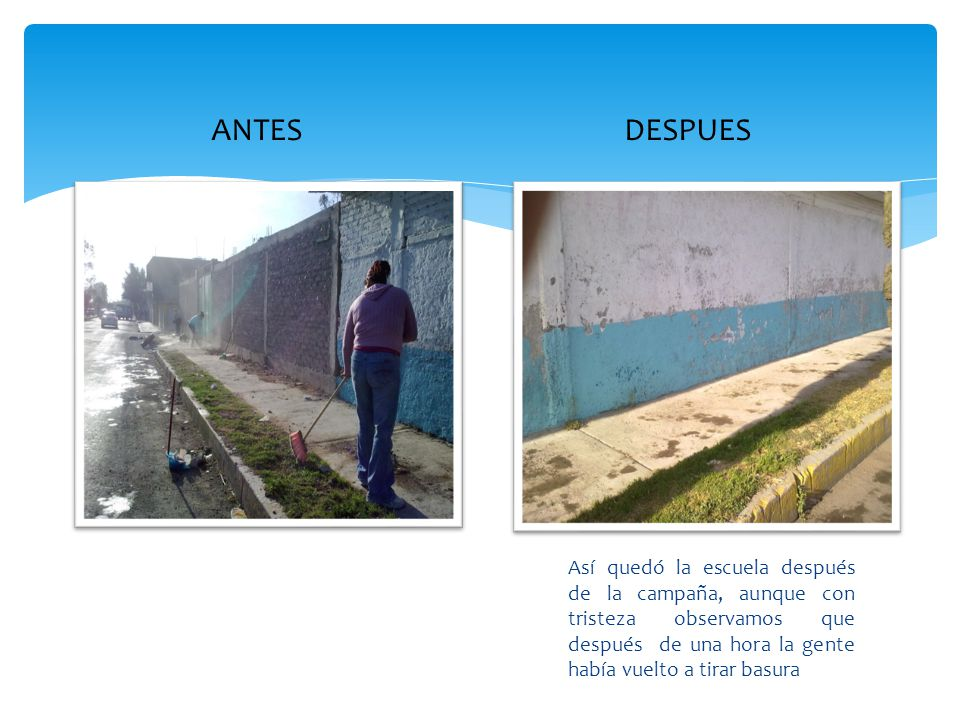 ANTES DESPUES.