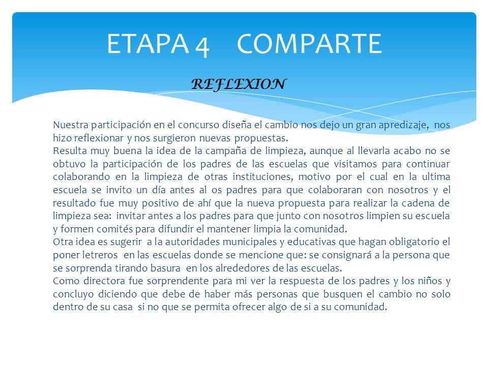 ETAPA 4 COMPARTE REFLEXION