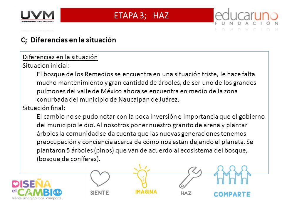 ETAPA 3; HAZ C; Diferencias en la situación