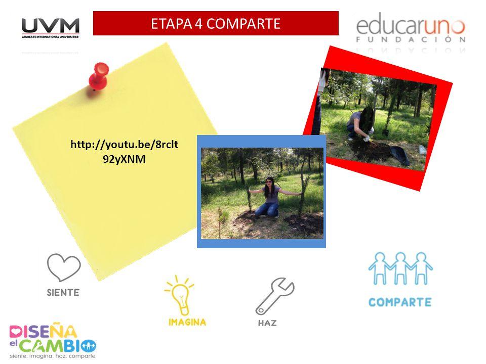 ETAPA 4 COMPARTE Agrega 1 foto AQUI Agrega 1 foto AQUI
