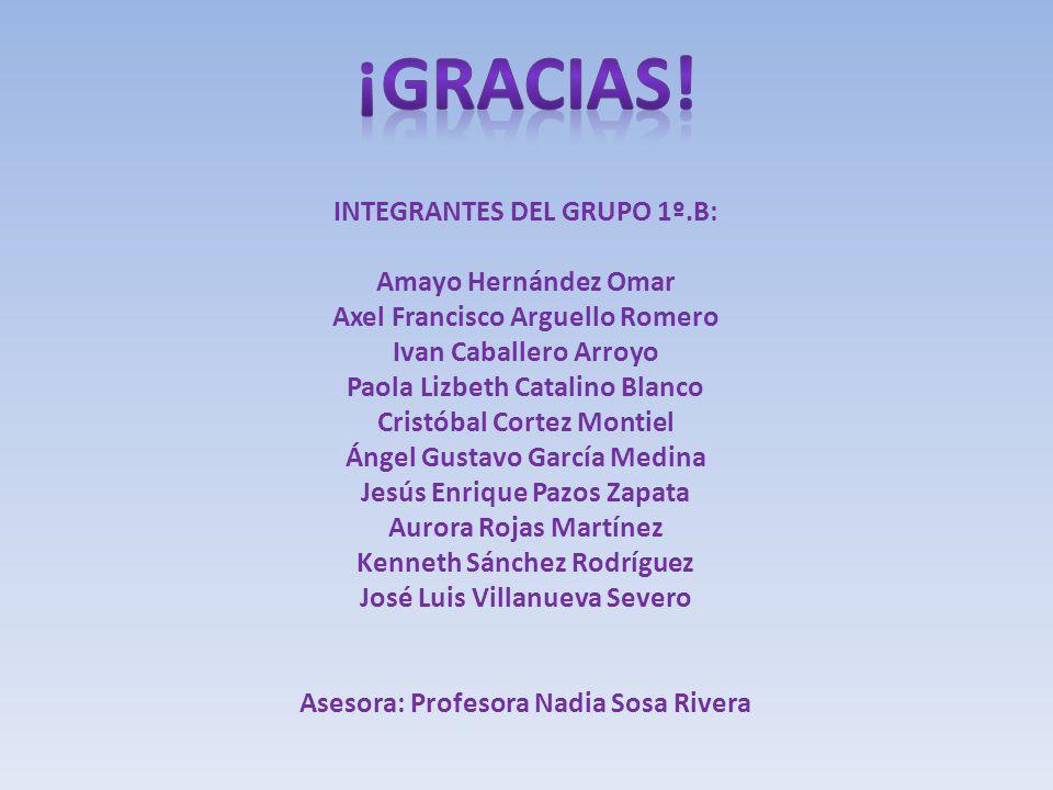 ¡GRACIAS! INTEGRANTES DEL GRUPO 1º.B: Amayo Hernández Omar