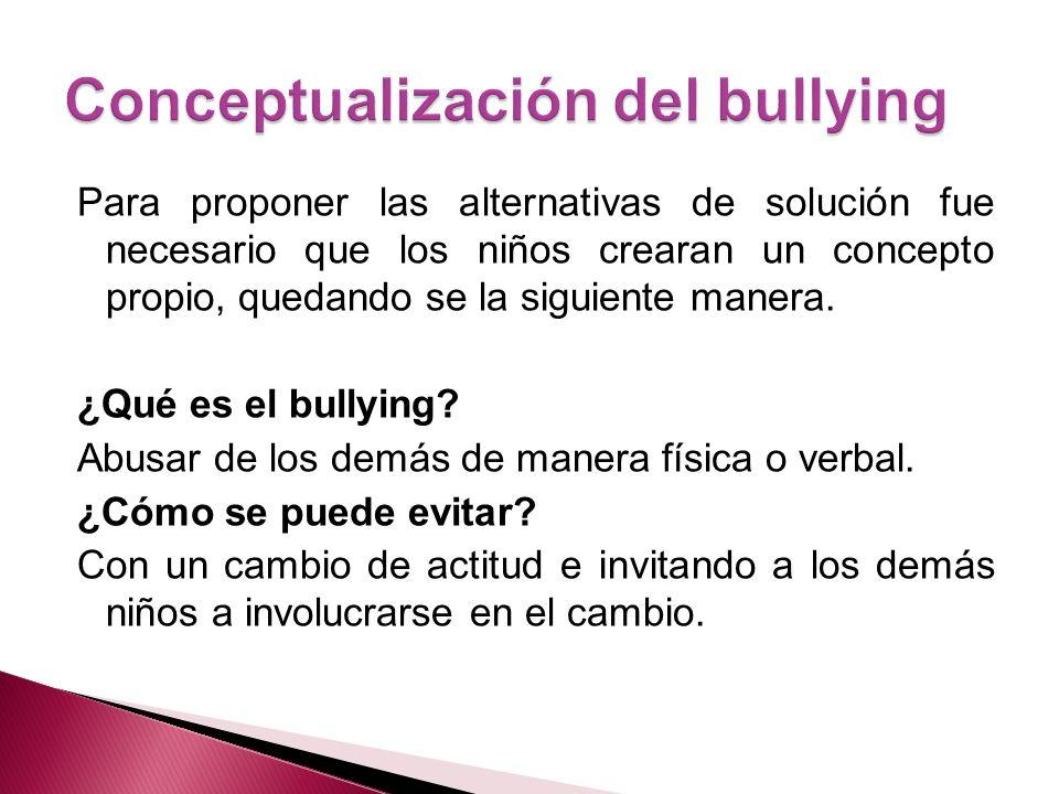 Conceptualización del bullying