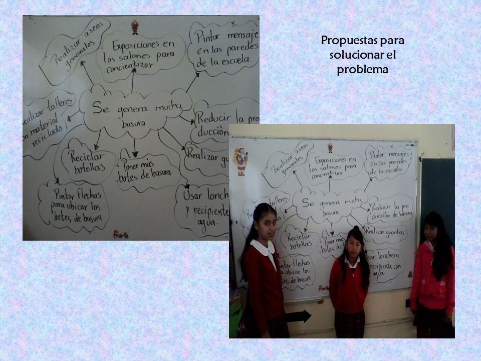 Propuestas para solucionar el problema