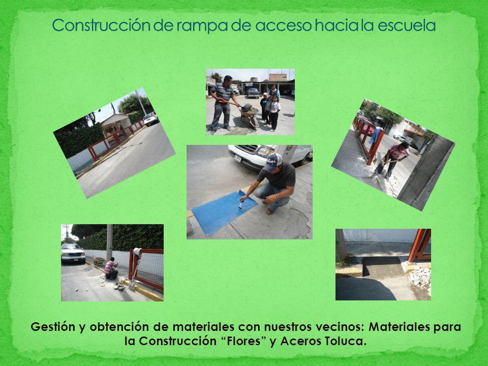 Construcción de rampa de acceso hacia la escuela