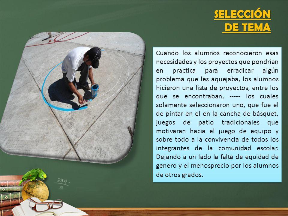 SELECCIÓN DE TEMA