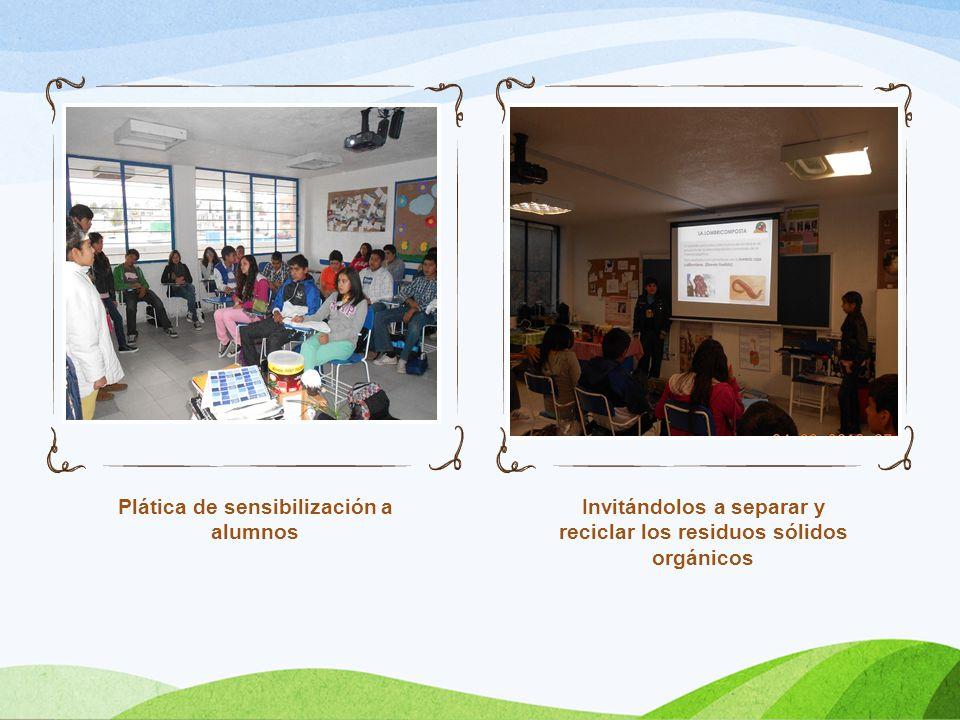 Plática de sensibilización a alumnos