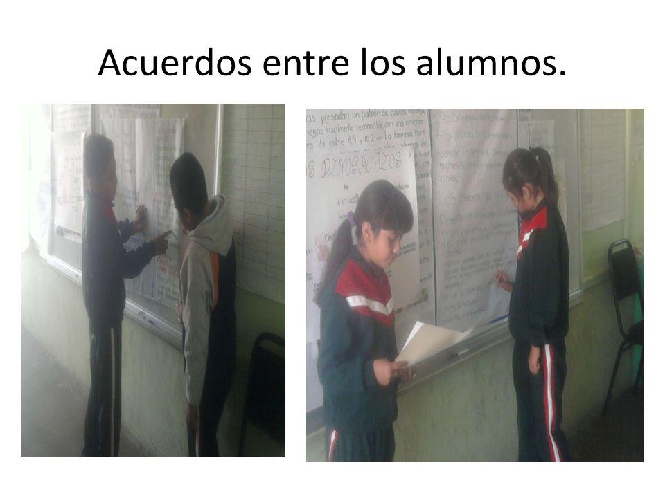 Acuerdos entre los alumnos.