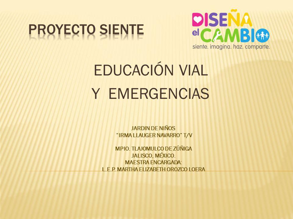 EDUCACIÓN VIAL Y EMERGENCIAS