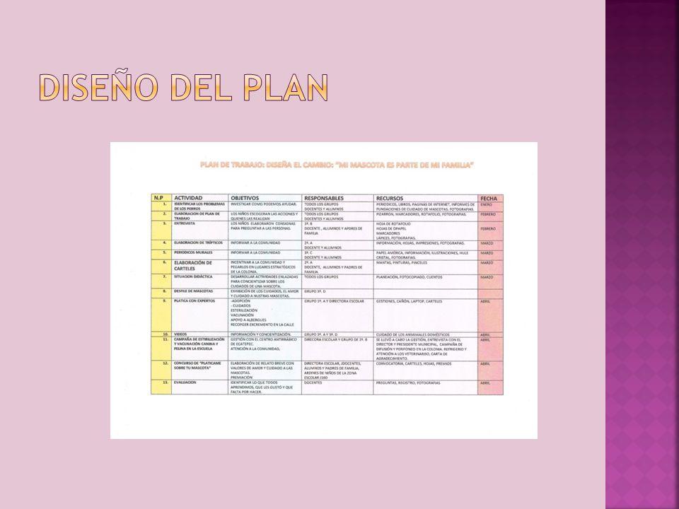 Diseño del plan