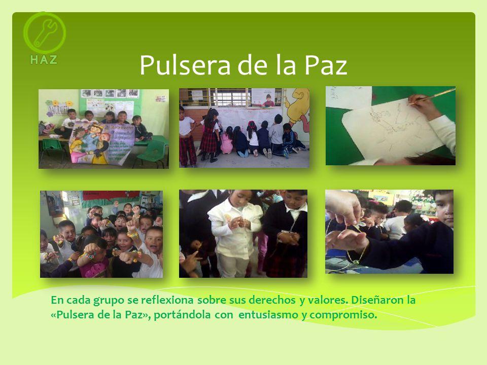 H A Z Pulsera de la Paz.