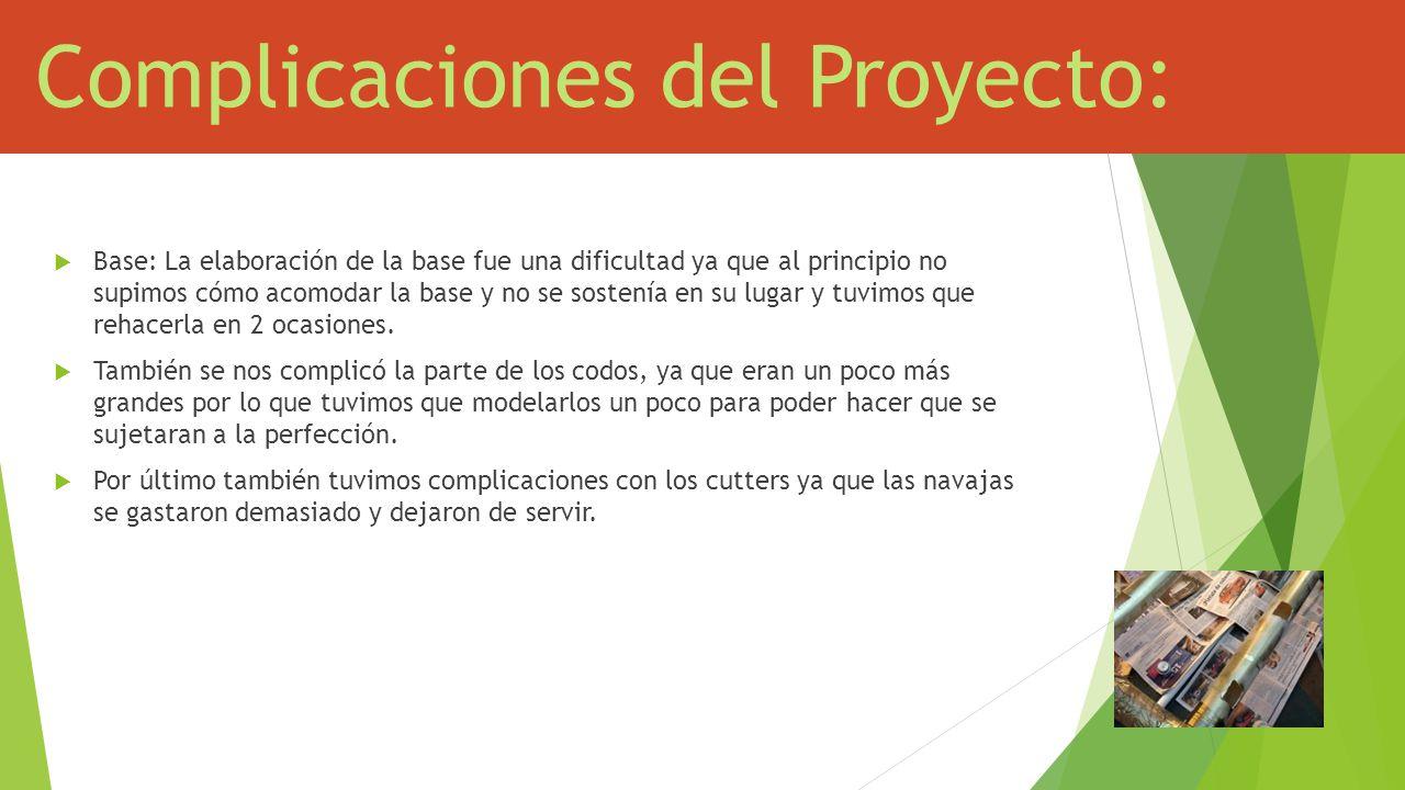 Complicaciones del Proyecto: