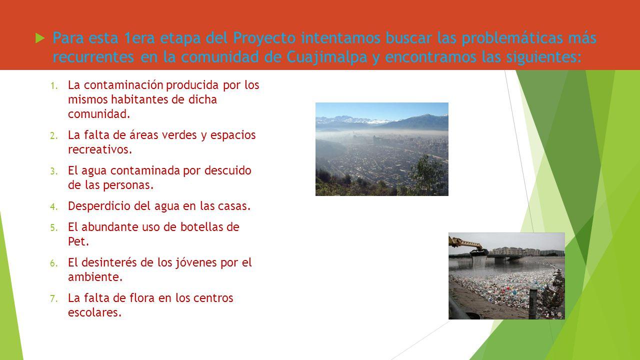 Para esta 1era etapa del Proyecto intentamos buscar las problemáticas más recurrentes en la comunidad de Cuajimalpa y encontramos las siguientes: