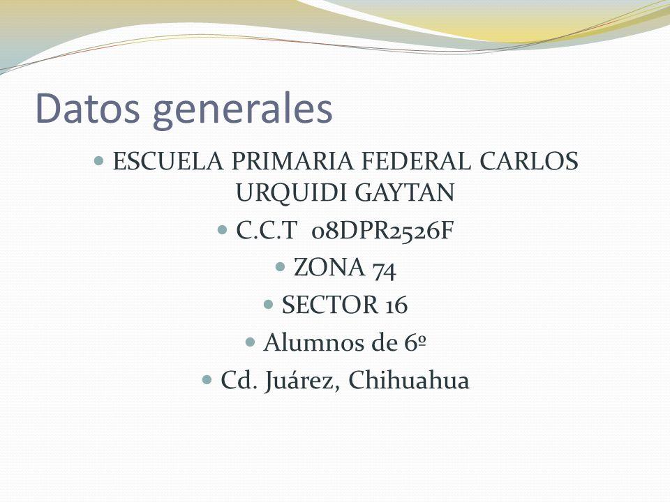 ESCUELA PRIMARIA FEDERAL CARLOS URQUIDI GAYTAN