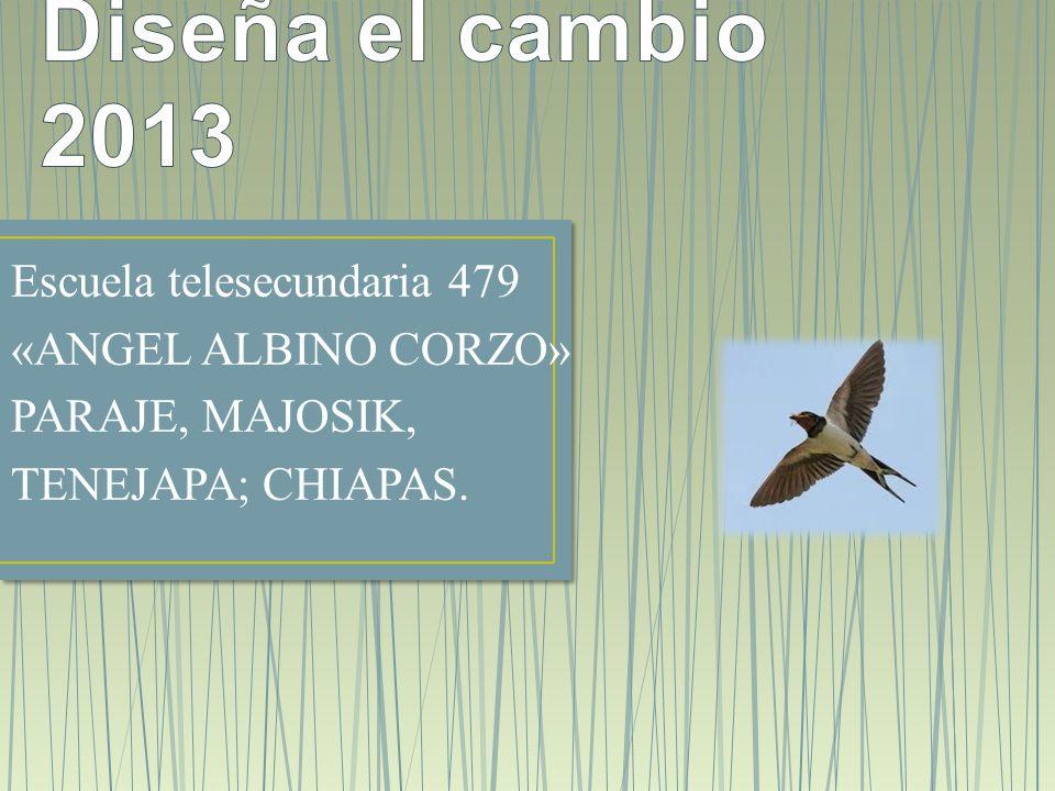 Diseña el cambio 2013 Escuela telesecundaria 479 «ANGEL ALBINO CORZO»
