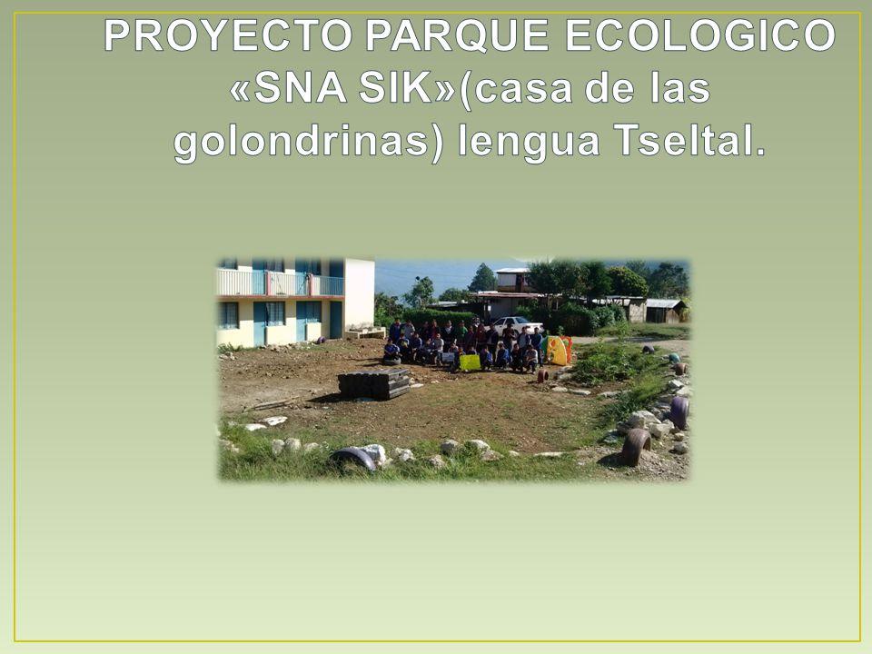 PROYECTO PARQUE ECOLOGICO «SNA SIK»(casa de las golondrinas) lengua Tseltal.