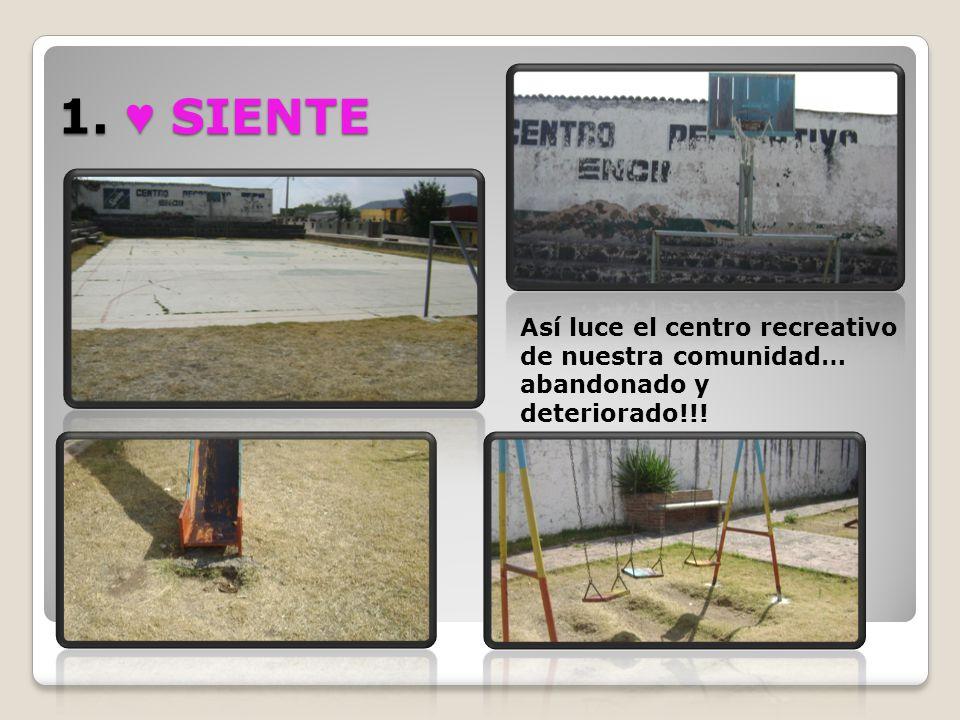 1. ♥ SIENTE Así luce el centro recreativo de nuestra comunidad… abandonado y deteriorado!!!