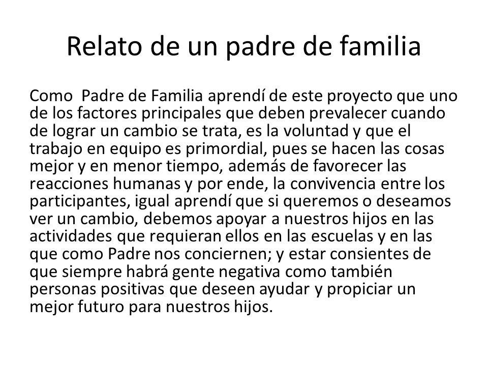 Relato de un padre de familia