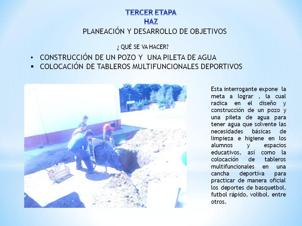 PLANEACIÓN Y DESARROLLO DE OBJETIVOS