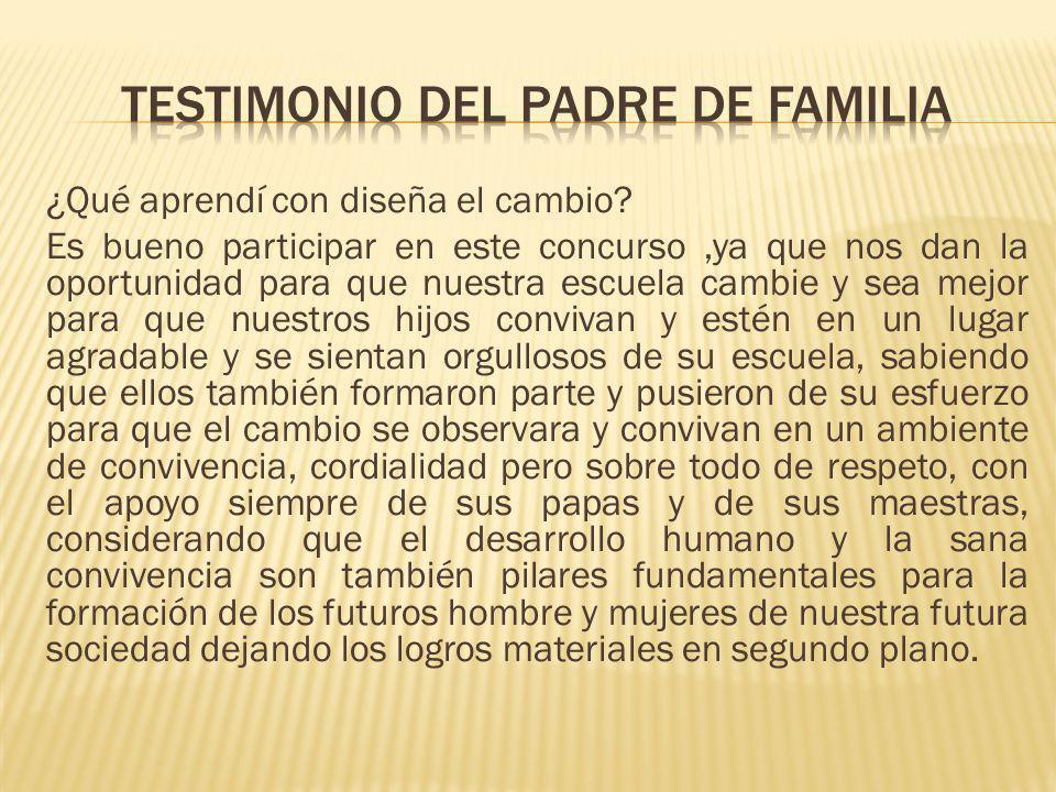 Testimonio del padre de familia