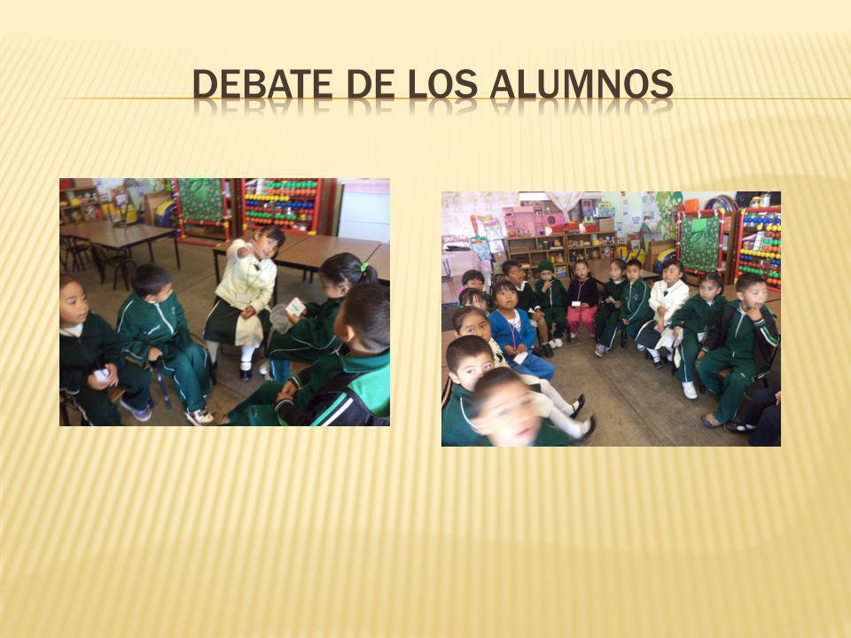 Debate de los alumnos