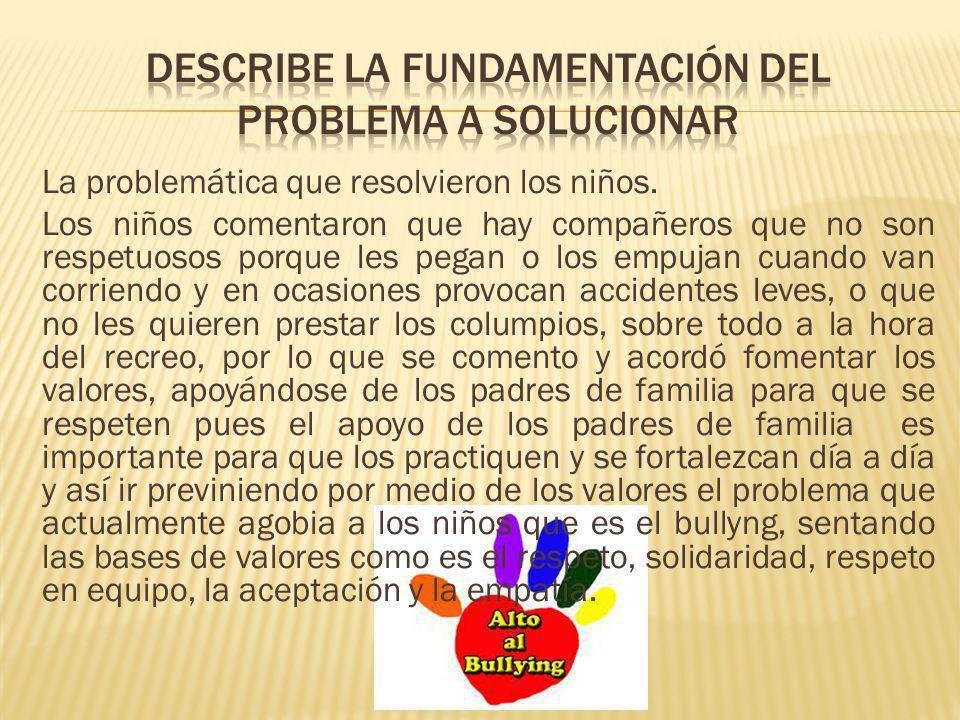 Describe la fundamentación del problema a solucionar
