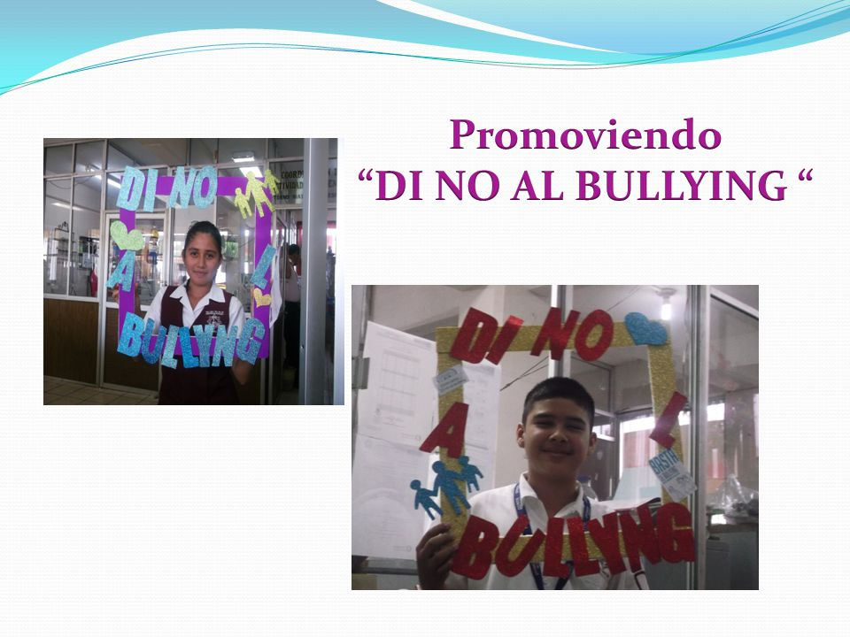 Promoviendo DI NO AL BULLYING