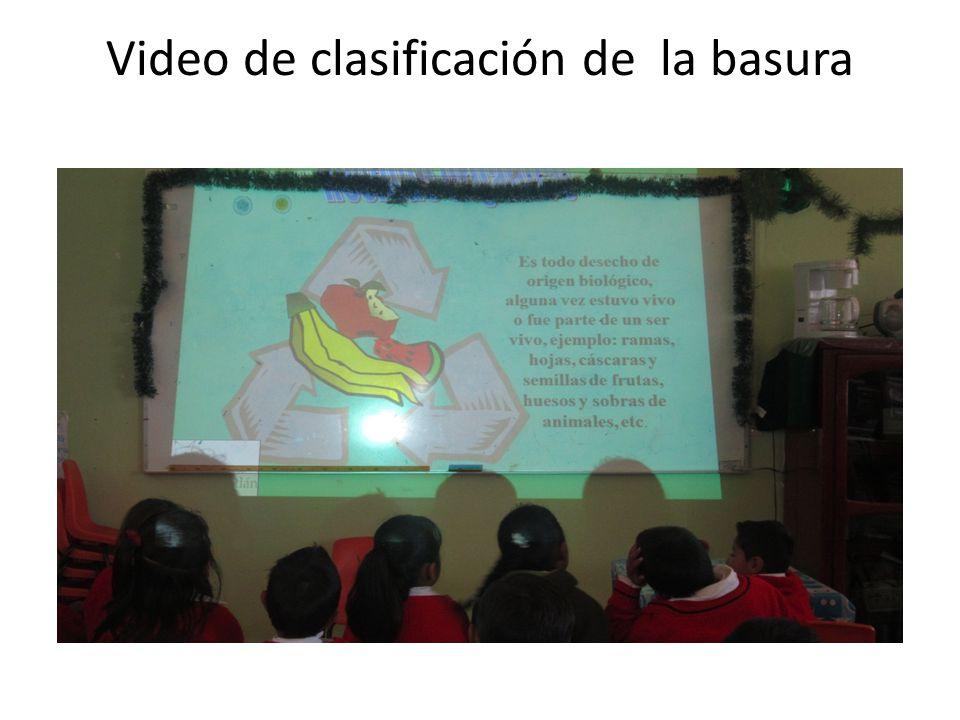 Video de clasificación de la basura