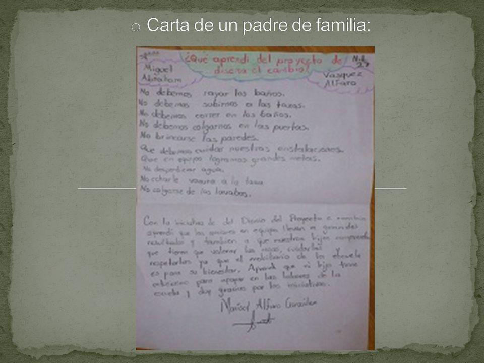 Carta de un padre de familia: