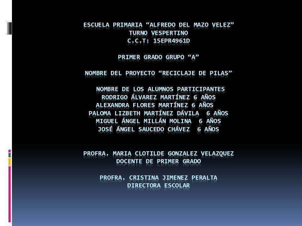 ESCUELA PRIMARIA ALFREDO DEL MAZO VELEZ TURNO VESPERTINO C. C