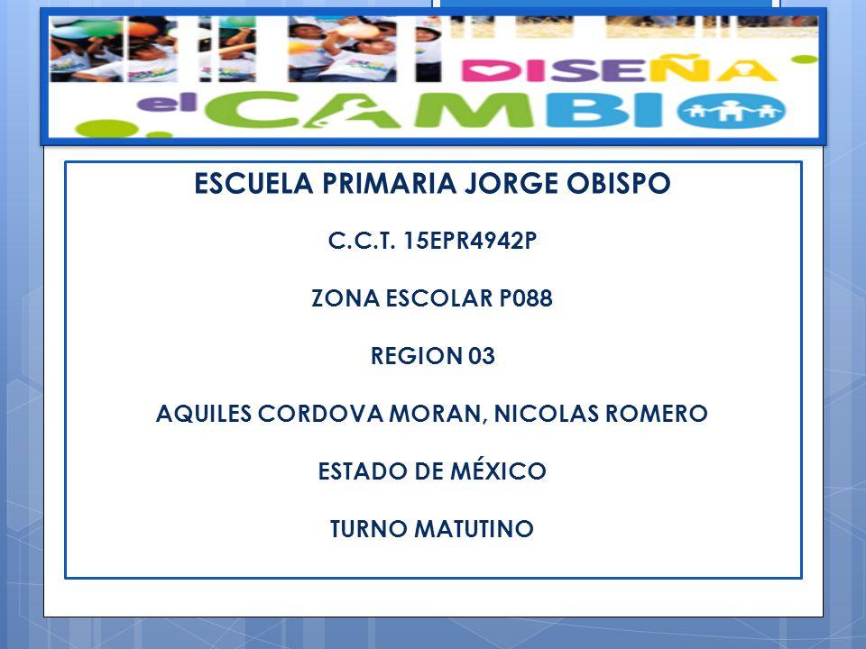 ESCUELA PRIMARIA JORGE OBISPO AQUILES CORDOVA MORAN, NICOLAS ROMERO