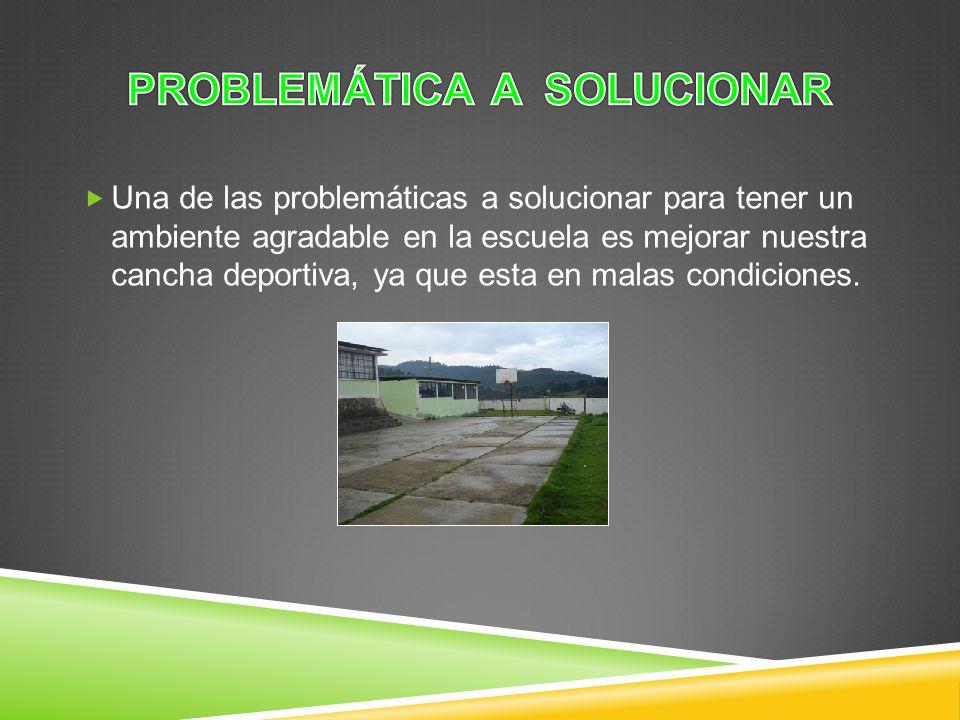 problemática a solucionar