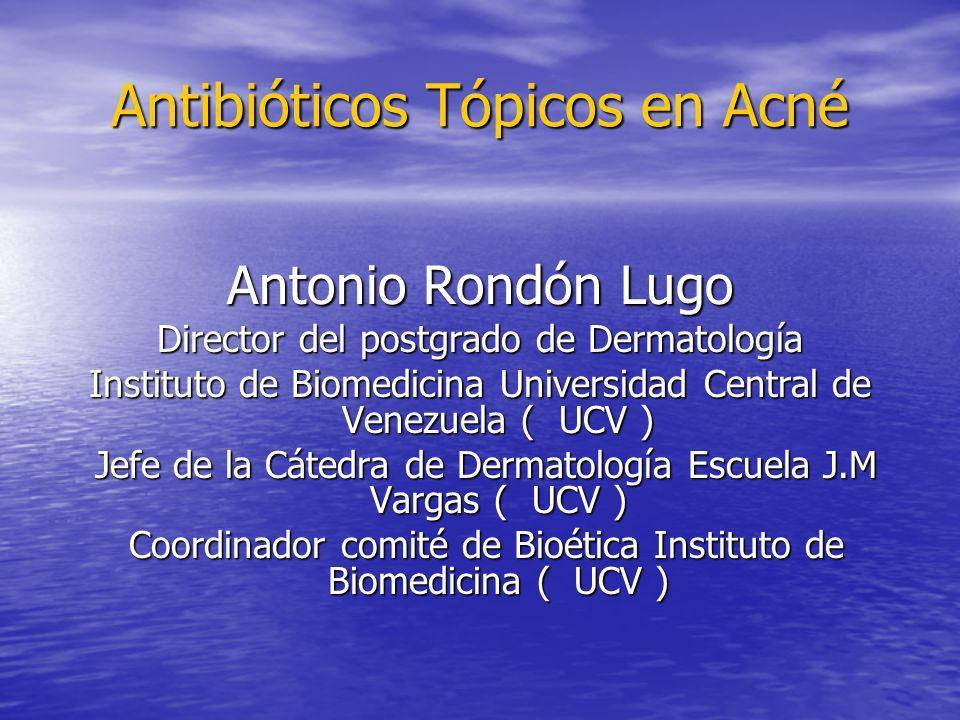Antibióticos Tópicos en Acné