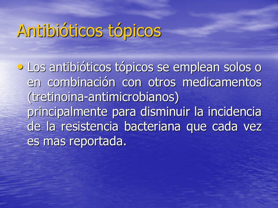 Antibióticos tópicos