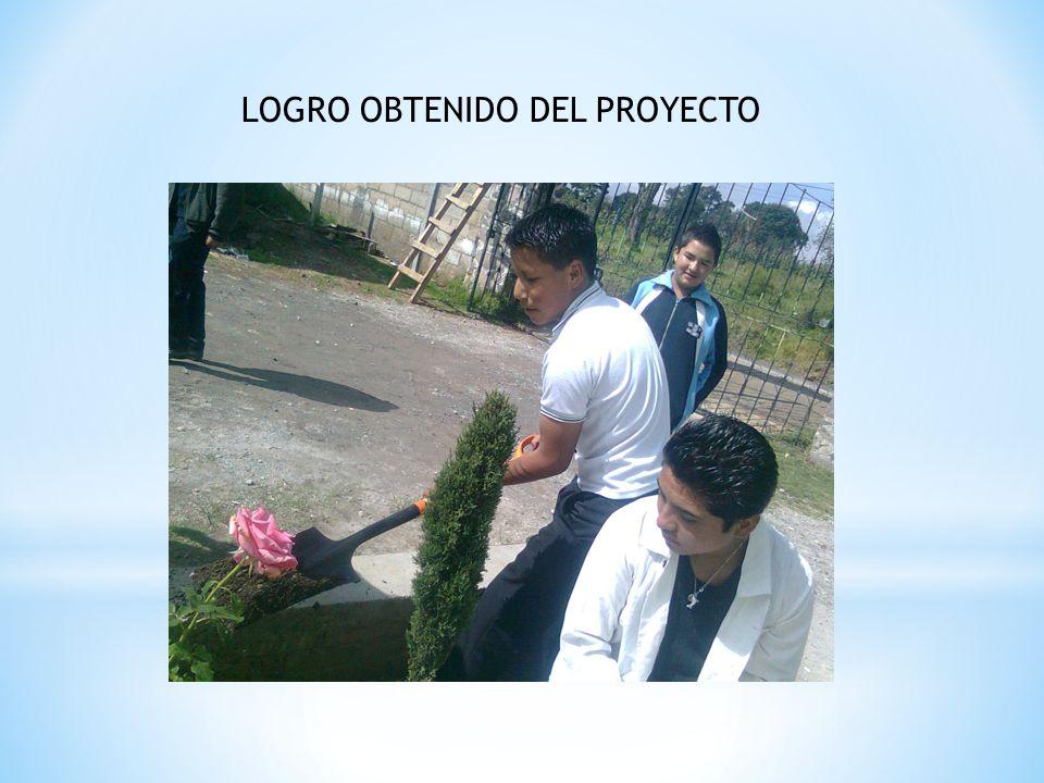 LOGRO OBTENIDO DEL PROYECTO