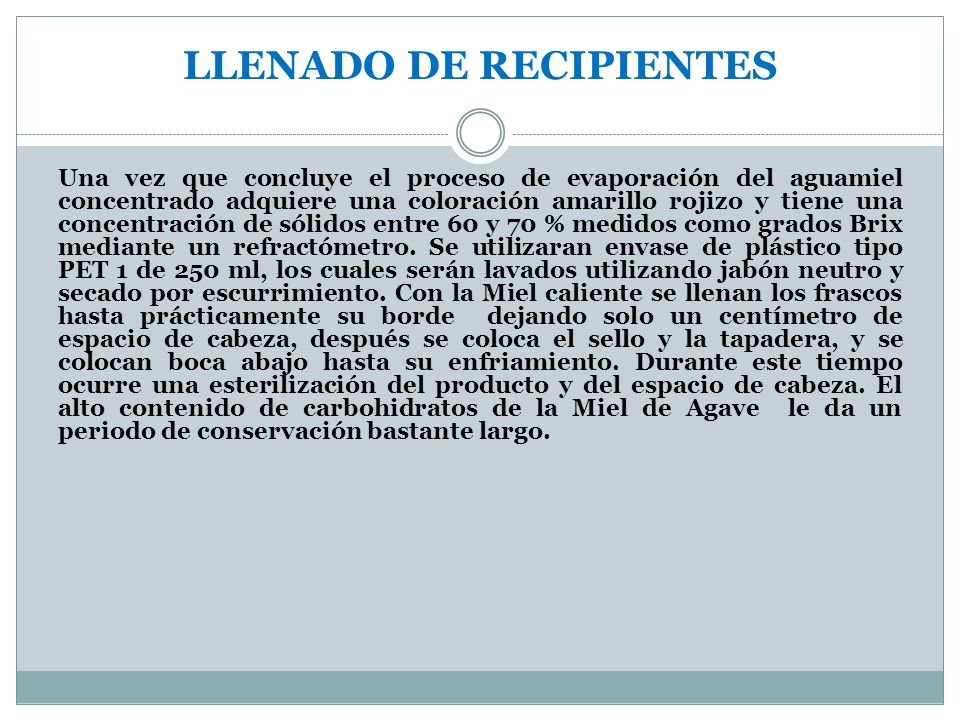 LLENADO DE RECIPIENTES