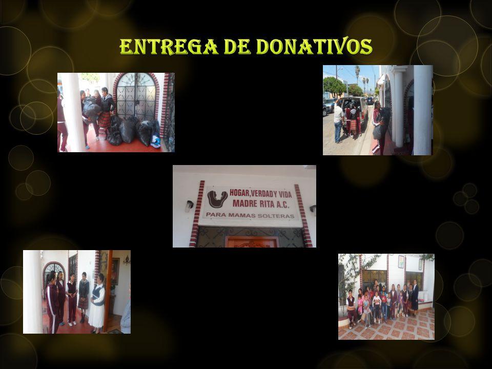 entrega de donativos