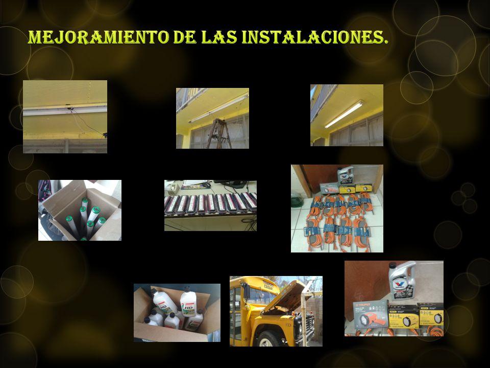 mejoramiento de las instalaciones.