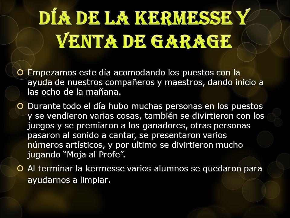 Día de la kermesse y venta de garage