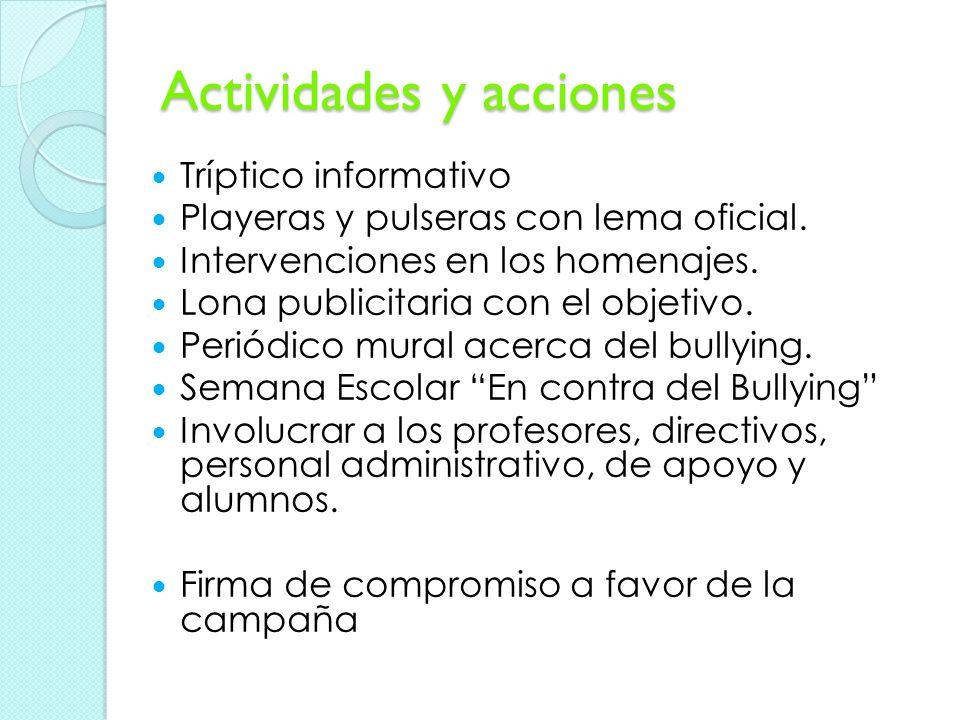 Actividades y acciones